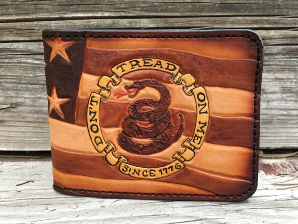 Don't Tread on Me Tooled Wallet