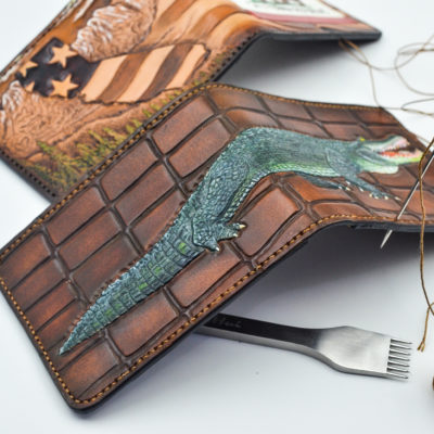 Custom Crafted Tooled Bifold Wallets by Christoph Joseph